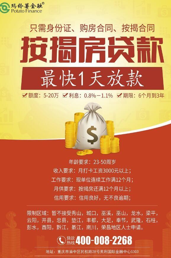 马铃薯金融投资贷款